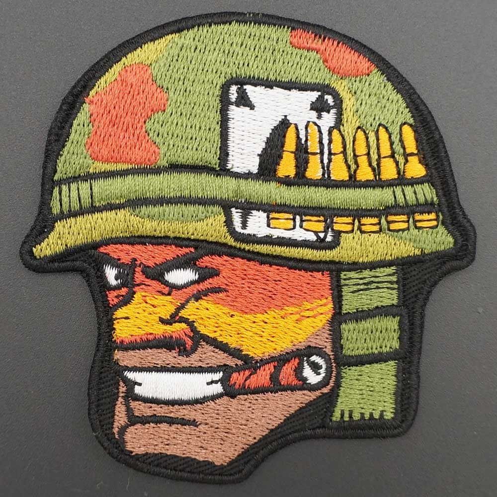 Soldado SAMURAI gancho de bordado parche de respaldo táctico moral insignia en bolso chaqueta brazo sombrero
