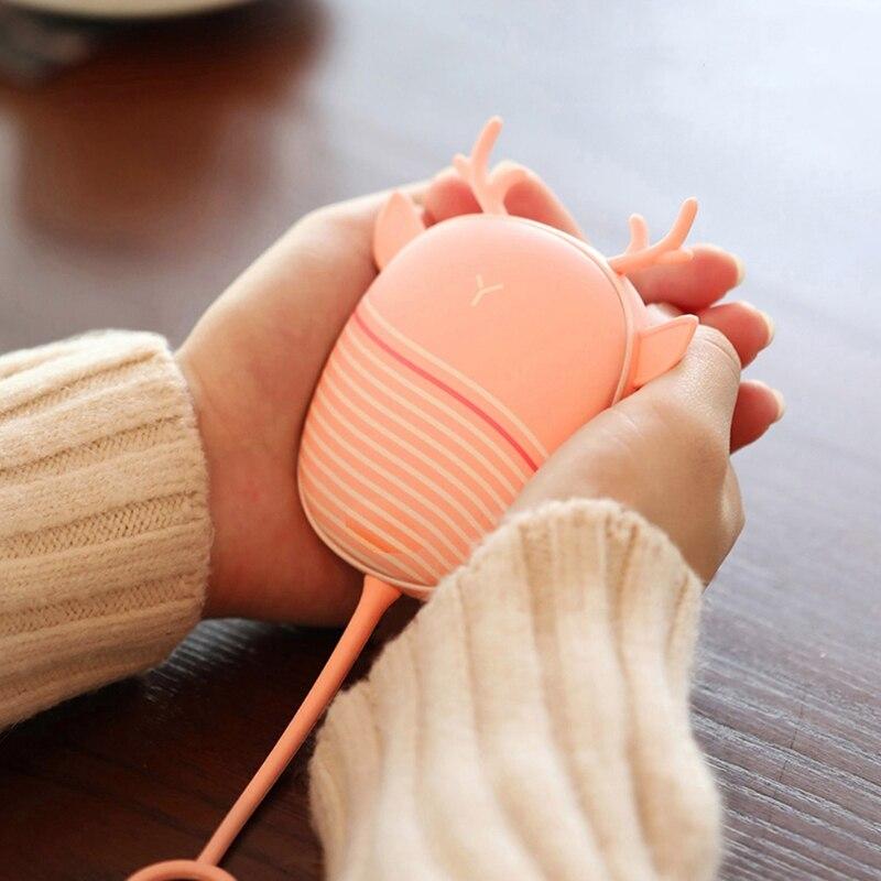 سخان جهاز تدفئة محمول لوحة التدفئة USB قابلة للشحن مفيد دفئا سخان جيب صغير الكرتون سخان كهربائي دافئ مع مصباح
