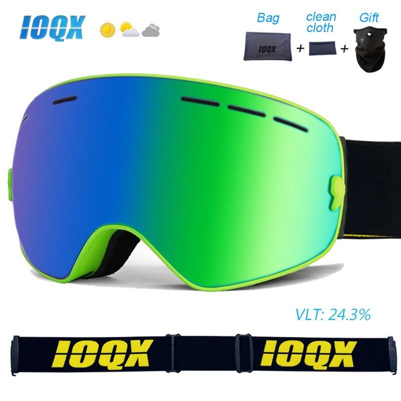 Фото - IOQX Snowmobile Ski Goggles Double Layers UV400 Anti fog Big Ski Mask Glasses Skiing Snow Men Women Snowboard Goggles nandn ski goggles double layers uv400 anti fog big ski mask glasses skiing men women snow snowboard goggles ng5