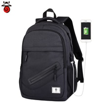 New Fashion Men's Laptop Backpack Bookbag Male Polyester Travel Backpack Computer Bags Schoolbag Col
