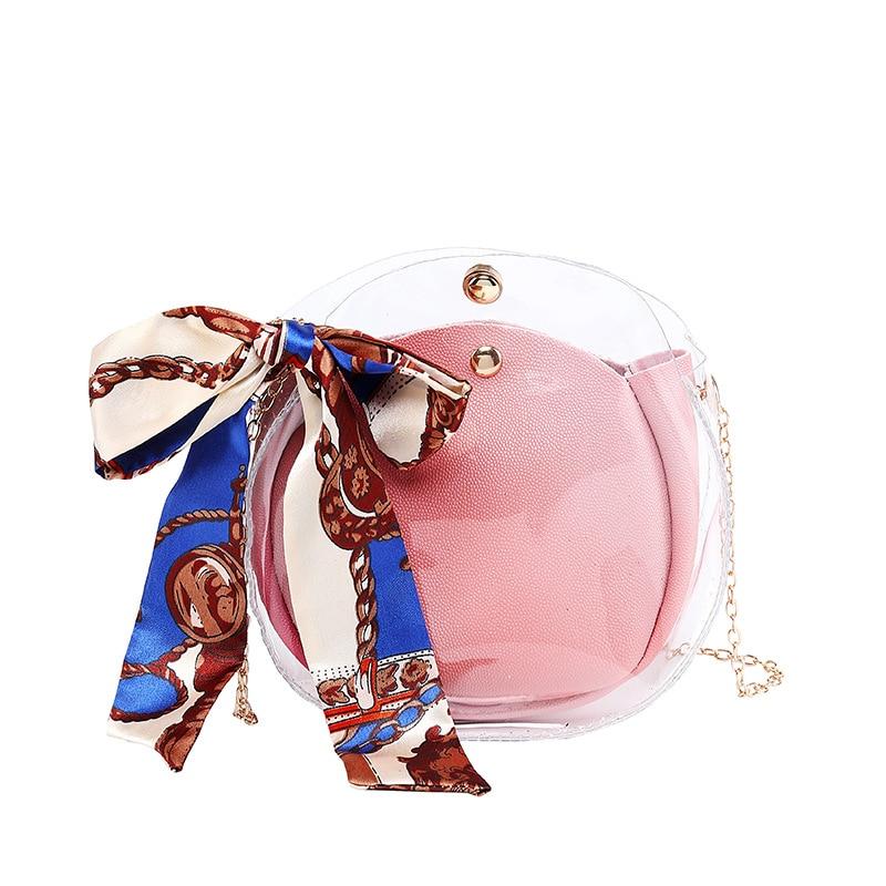 2020 bufandas transparentes de jalea, Bolsos De Mujer, Mini bolsas de mensajero compuestas de cadena, bolsa pequeña transparente de moda para mujer