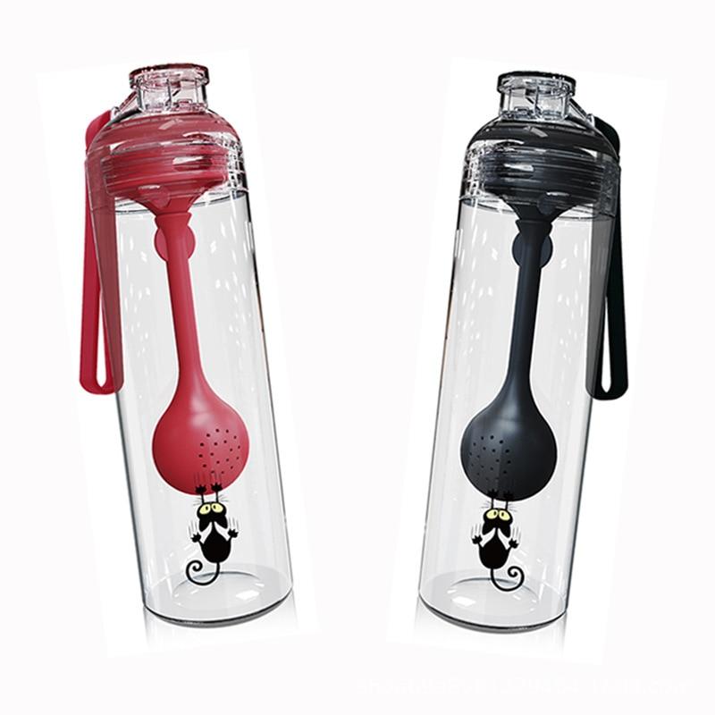 De plástico transparente filtros botellas De Agua para Outdoor beber deporte Simple...