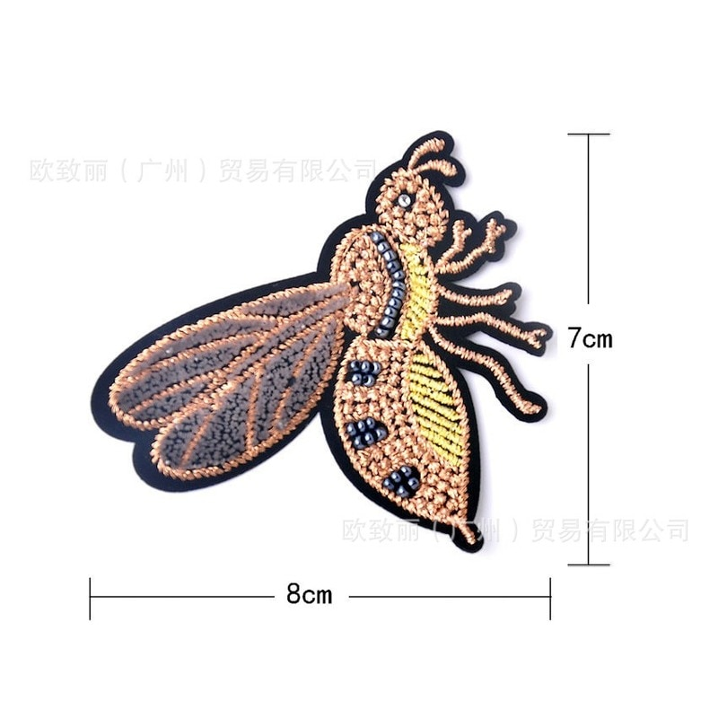 5 Embroidery Patches Letters Clothing Decoration Accessories Insect Dragonfly Butterfly Diy Iron Heat Transfer Applique  - buy with discount