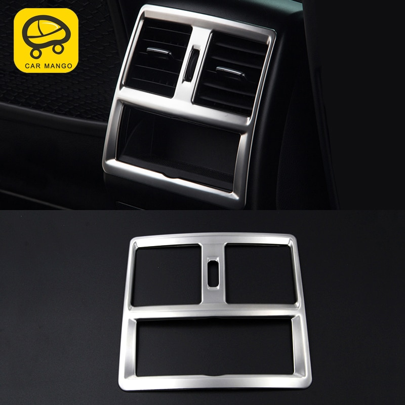 Mango para Mercedes Benz GLE ML GL GLS, soporte de copa Central de ventilación trasera de coche, marco de cubierta de pegatina, accesorios interiores cromados