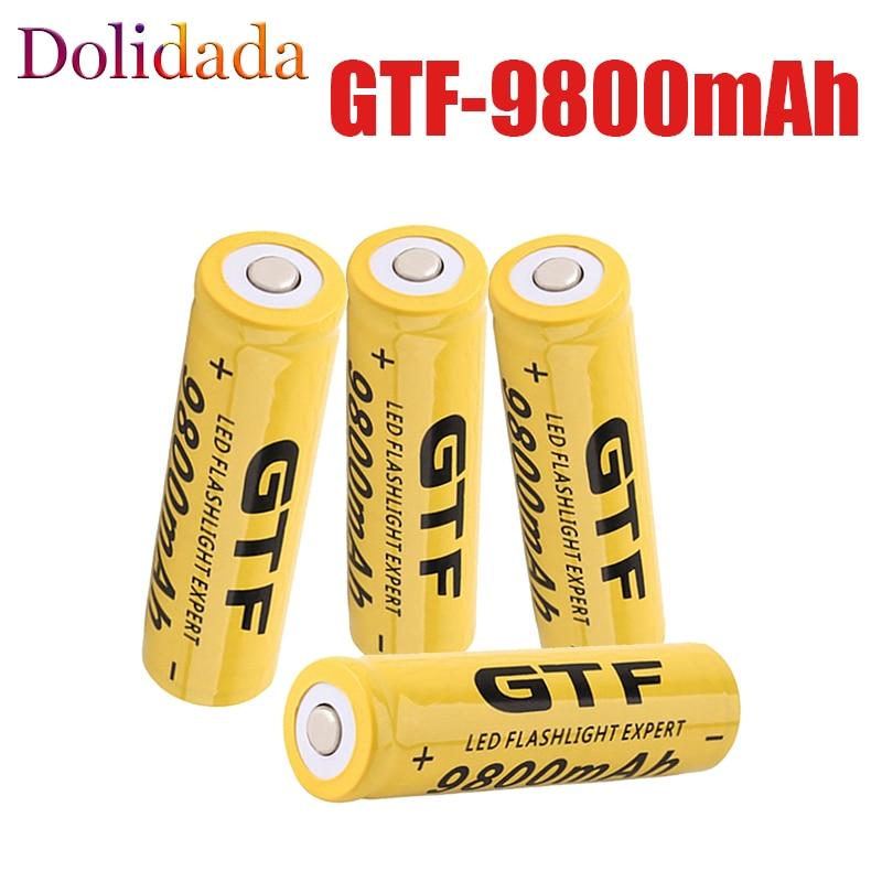 Новый литий-ионный аккумулятор 3,7 в 9800 мАч 18650 GTF 18650 9800 мАч 3,7 в, перезаряжаемый аккумулятор для фонарика