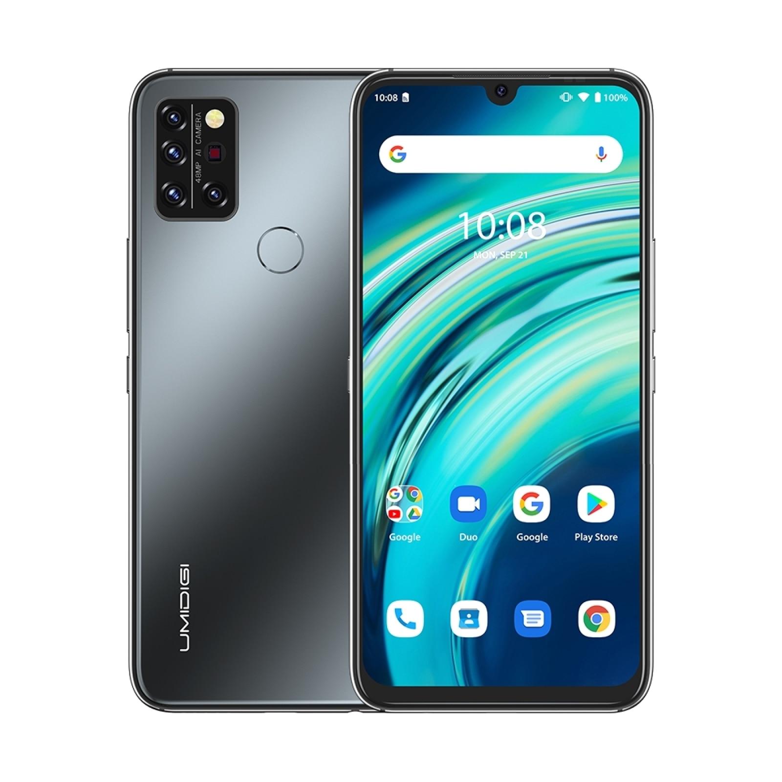 Перейти на Алиэкспресс и купить UMIDIGI A9 Pro 48MP Quad Camera смартфон 6 + 128 ГБ Android 10 Helio P60 Octa Core 6,3 дюймГлобальная Версия Телефона 24MP селфи Cam