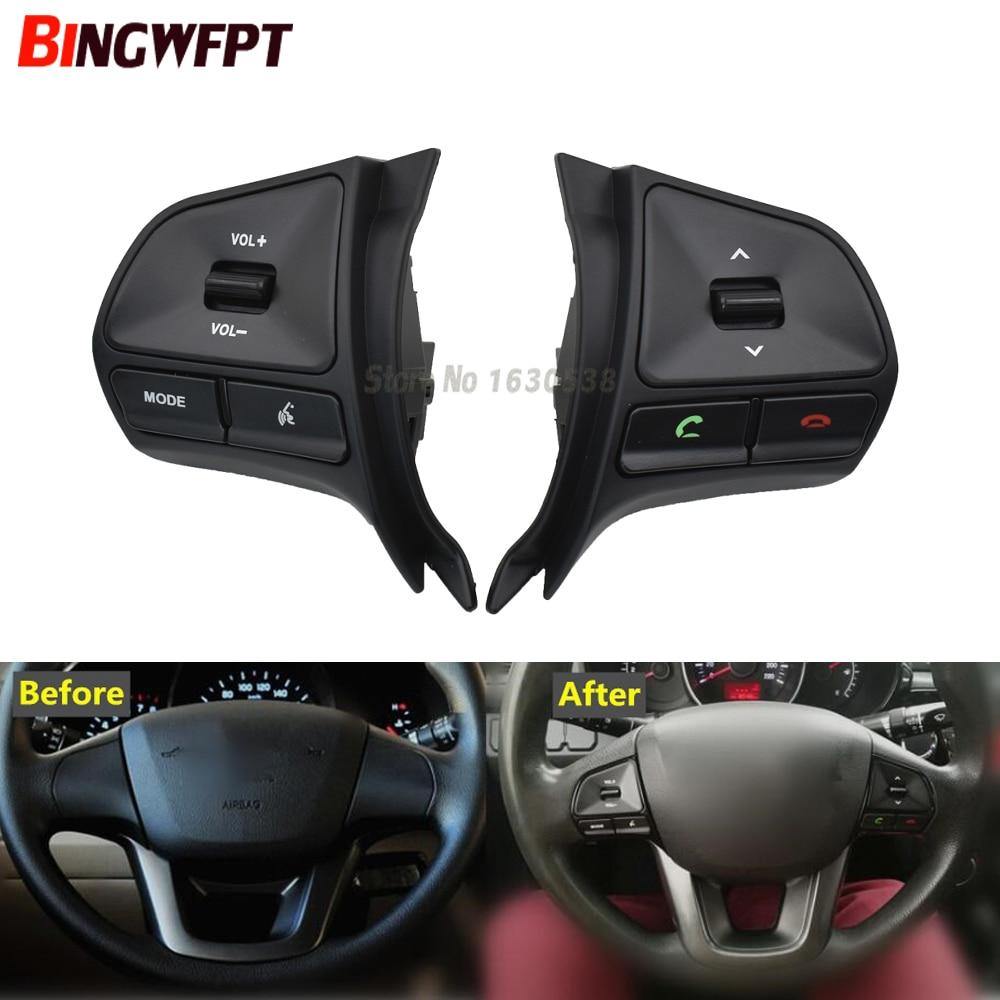 New Car Steering Wheel Control Button For KIA K2 RIO 2011-2014 Audio Bluetooth Phone Volume Switch R