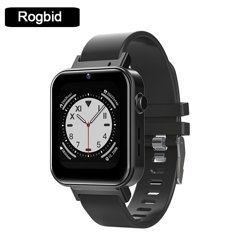 Get Rogbid S21 4G Full Netcom Smart Watch Dual System NFC 1G+16G GPS WIFI Face Recognition Smart Watch 24-Hour Heart Rate Monitor
