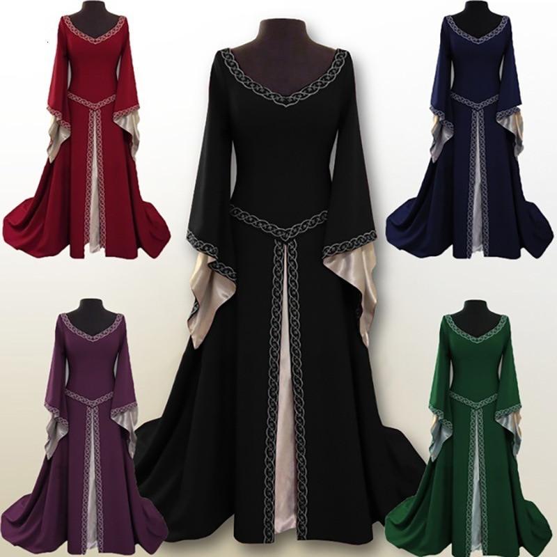 Cosplay Medieval Palacio princesa vestido adultos Vintage traje para fiesta de noche Retro renacimiento vestido atado traje de talla grande 5XL