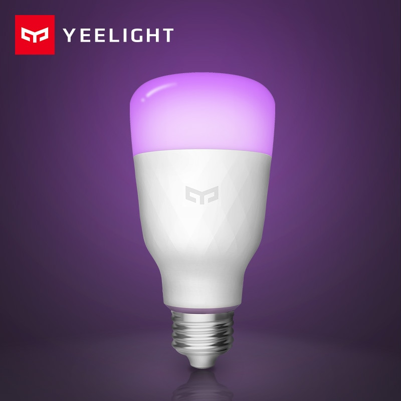 [Английская версия] умная Светодиодная лампа Yeelight, цветная, 800 люмен, 10 Вт, E27, лимонная, умная лампа для Mi Home App, белый/RGB вариант