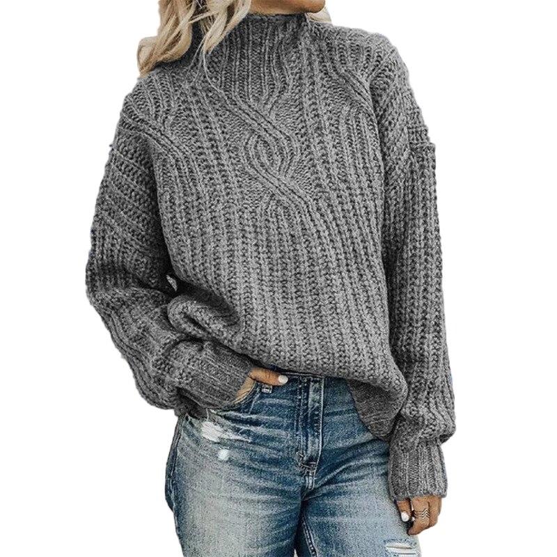 Женский вязаный свитер-водолазка, Осенний пуловер, свитер ручной вязки, джемперы с длинным рукавом, корейские топы, зимняя одежда для женщин