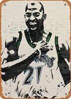 vintage look metal sign basketball fan arts kevin garnett minnesota 8x12 tin plate wall decor