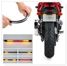 Motorcycle Plate Light Brake Stop Turn Signal Strip lamp for Kawasaki KX65 KX80 85 KX125 KX250 KX250F KX450F KLX450R KLX125