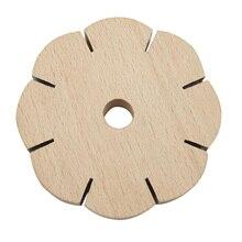 Disque rond en bois de plaque de disque de tressage Kumihimo pour la fabrication de bijoux