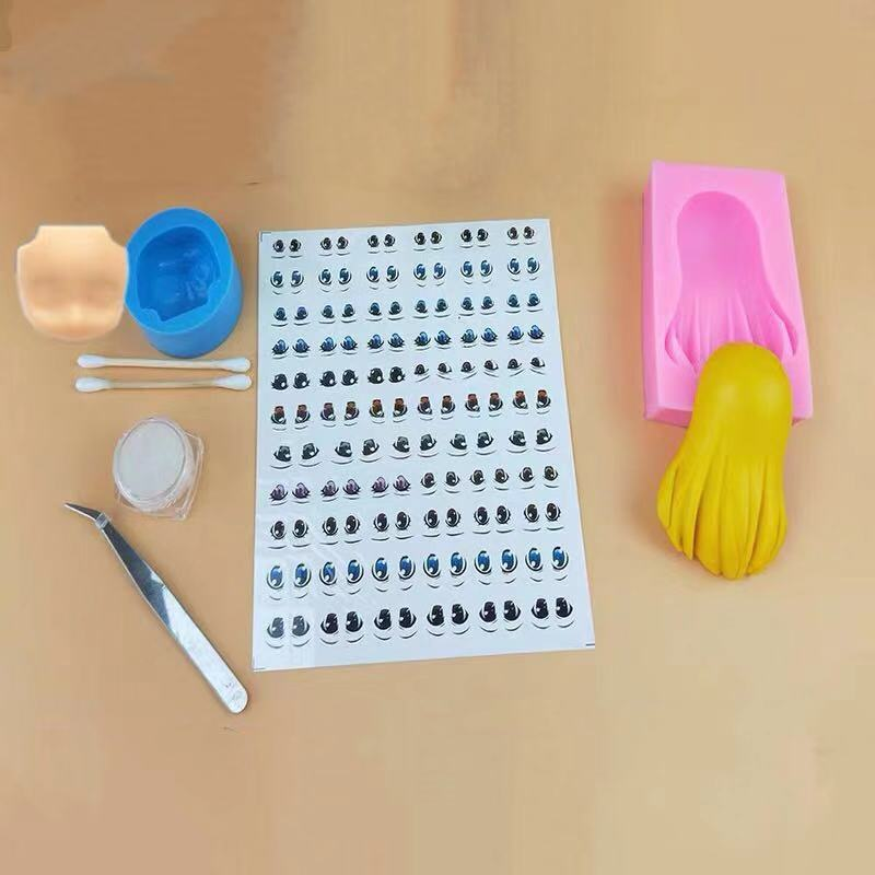 DIY ultraleve conjunto cabelo facial de argila molde de silicone fabricação de moldes de silicone fondant ferramentas de decoração do bolo ferramentas moldes de cerâmica