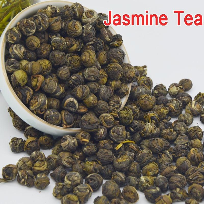 250g Fresco Natural Organic Premium Chinês Jasmine Jasmine Dragon Pearl Fragrance Chá Verde Emagrecimento Flor Kung Fu Cha