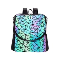 backpack personality large capacity travel backpack niche 2021 autumn and winter new creative design reflective backpack