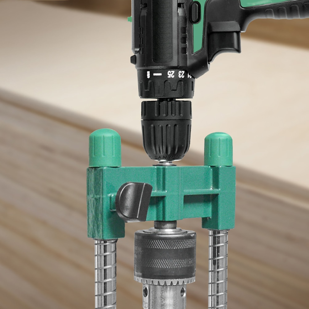 Electrical Multifunctional Drill Stand 45°-90° Adjustable Angle Drill Guide Attachment with Chuck Drill Stand for Electric Drill enlarge
