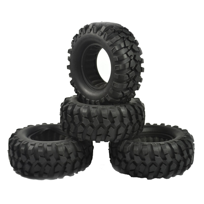 4PCS 1.9 inch Rubber Tyre 1.9 Wheel Tires 96X40MM for 1/10 RC Crawler Traxxas TRX4 Axial SCX10 III AXI03007 90046