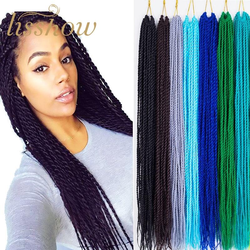 Extensiones sintéticas de trenzas pelo trenzado largo Crochet senegalés Nubian Twist trenza cubana Twist Hair