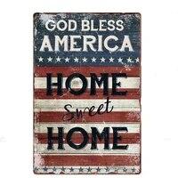 Signe en etain americain  decoration de maison douce  Plaque en metal  magasin mural