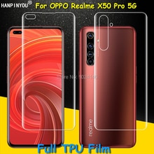 Front / Back Full Coverage Clear Soft TPU Film Screen Protector For Oppo Realme X50 Pro X50m 5G Cove