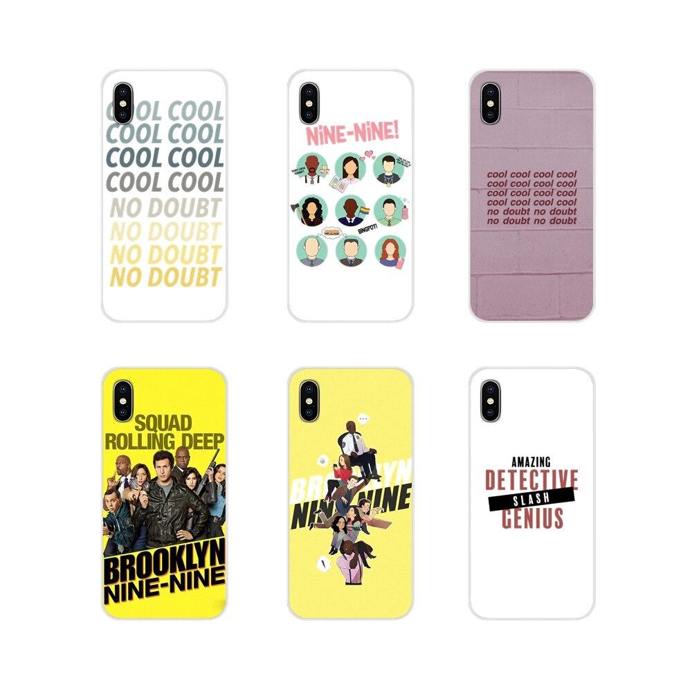Funda de piel para Samsung Galaxy J1 J2 J3 J4 J5 J6 J7 J8 Plus 2018 Prime 2015 2016, accesorios, funda de teléfono Brooklyn 99 Nine cool