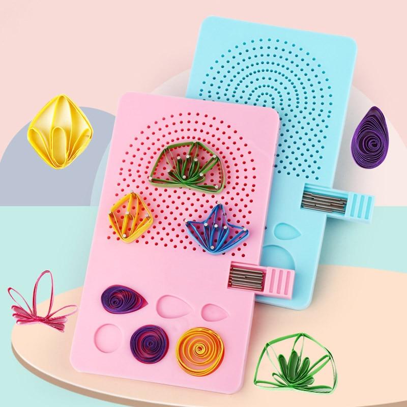 1 ud. Papel Quilling Board con Pins Grid Guide para manualidades con papel Winder Roll cuadrado herramientas de artesanías para manualidades Corkboard Plantilla de papel