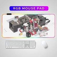 led light gaming mouse pad rgb large keyboard cover non slip rubber base computer carpet desk mat pc game mouse pad