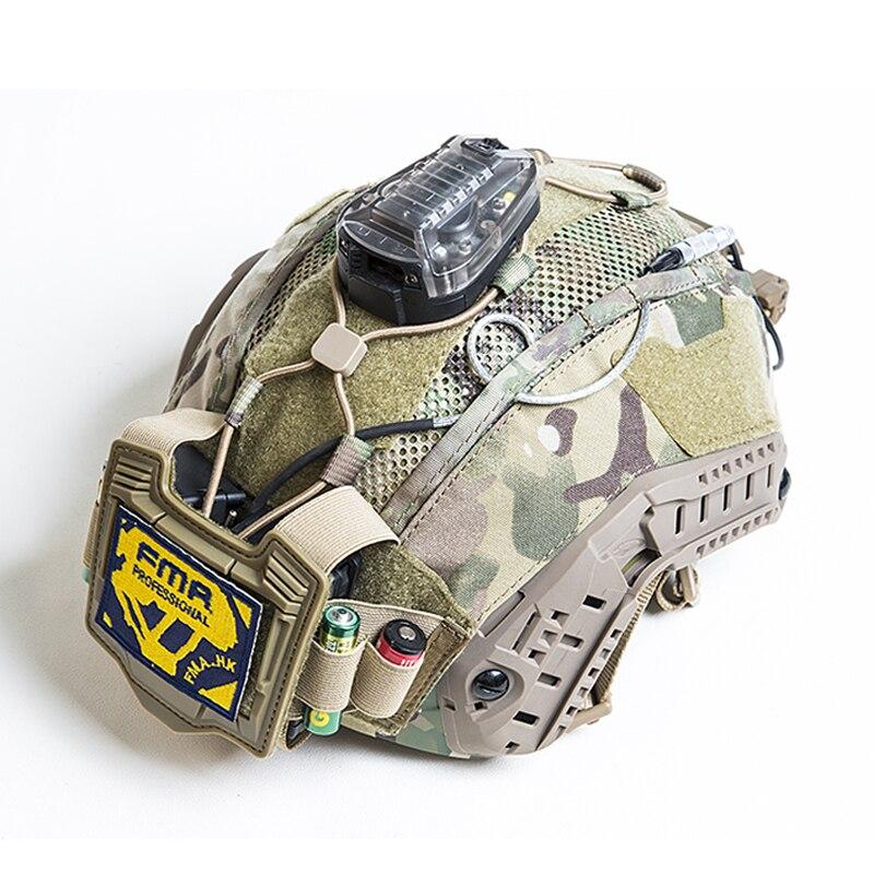 FMA Тактический морской шлем крышка многофункциональный держатель батареи сбалансированный мешок BK/DE/MC