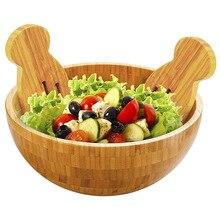 Bol à salade en bambou bol de service rond grande capacité bol à fruits