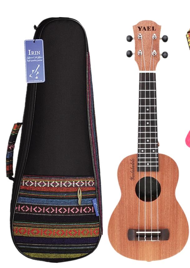 Hohe Qualität 21 Zoll Sopran Ukulele / Ukulele Tasche Sapele Holz 15 Fret Vier Saiten Hawaii Gitarre String Musical Instrument