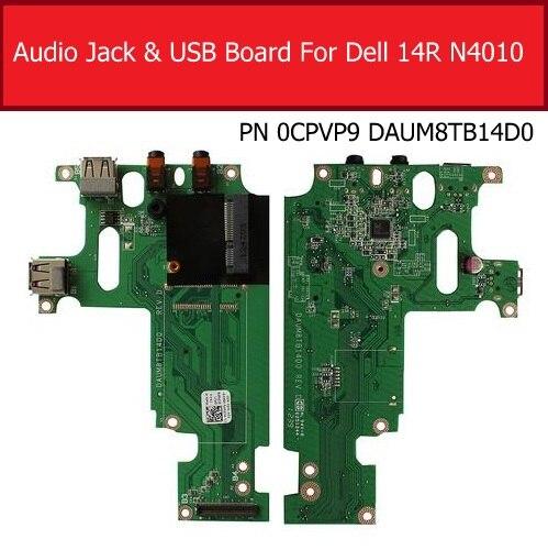 Placa de circuito ethernet e porta usb para dell, insprion 14r n4010, substituição de placa de circuito pn 0cpvp9, 100% teste bom