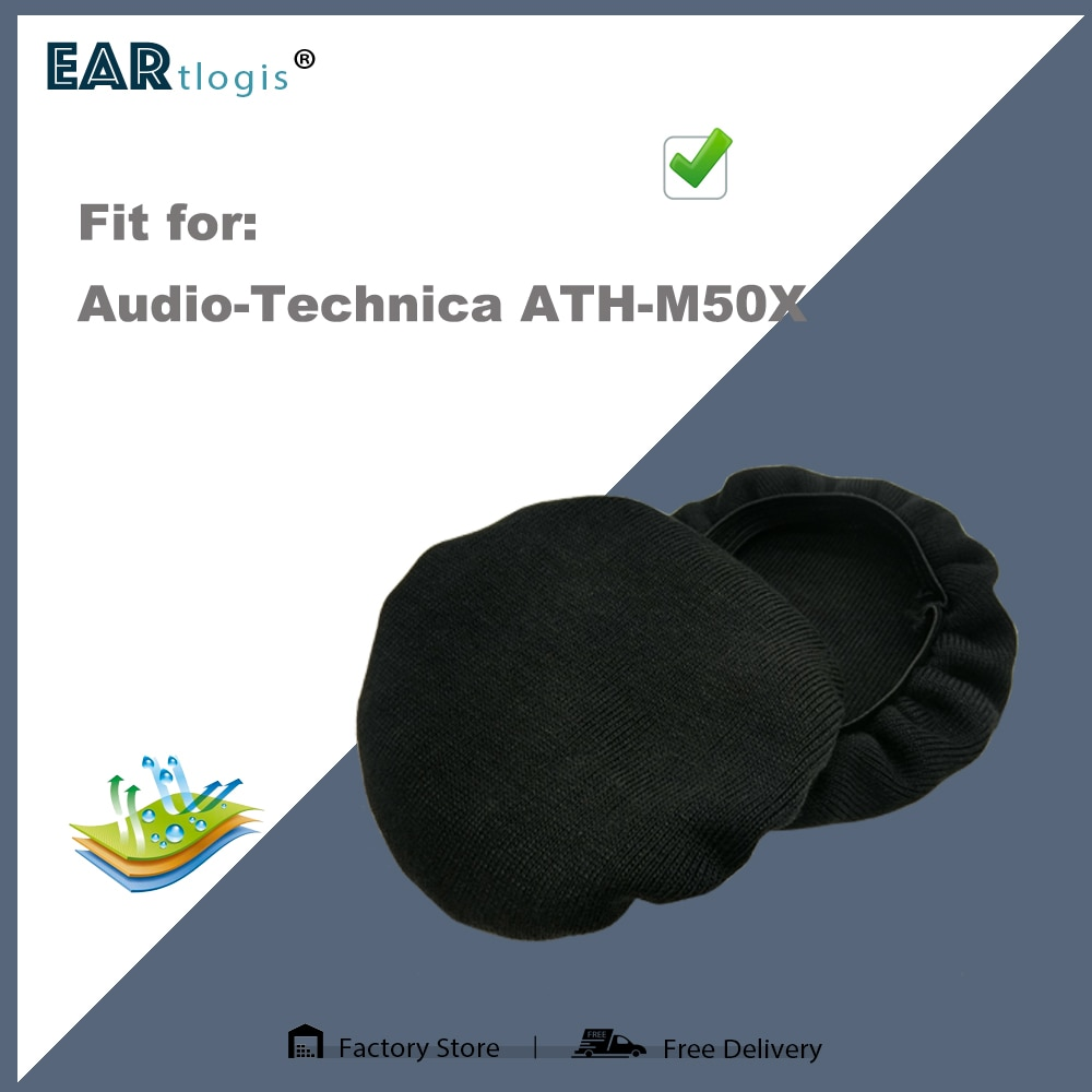 1 pair of Sleeve Stretch Covers Sweat Absorption Washable Germproof Deodorizing for Audio-Technica ATH-M50X ATHM50X Headset enlarge