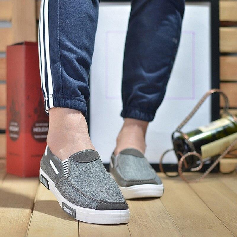 Слипоны; Парусиновая обувь для мужчин; Дышащая обувь; Мужские повседневные кроссовки; Модная обувь; Макасы Кеды