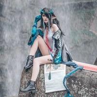 customize game arknights dusk cosplay costume chinese style slim hanfu short skirt bodysuit