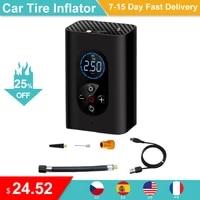 150psi portable wireless tire inflator air pump car air compressor auto air pump for car motorcycle balls led light tire pump