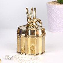 Boucles doreilles anneau boîte de rangement céramique boîte à bijoux organisateur bijoux affichage afficher bijoux stockage organisateur pour boîte à bagues de mariage