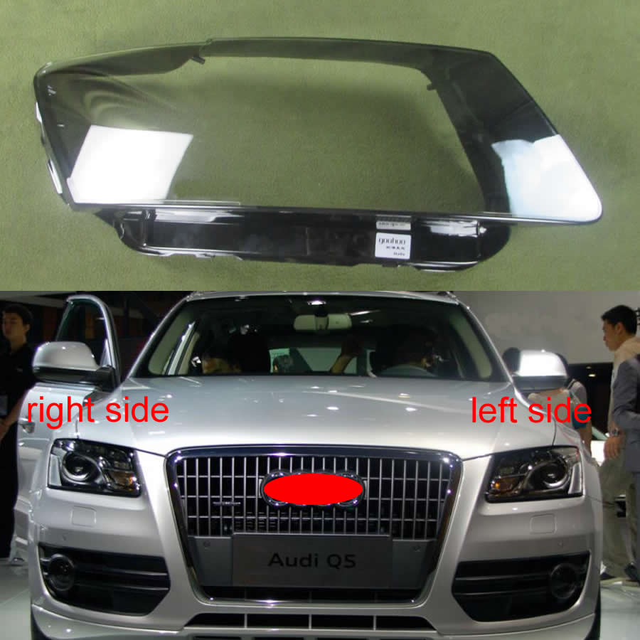 Para audi q5 2010 2011 2012 farol capa transparente abajur lâmpada sombra de vidro da lente do farol
