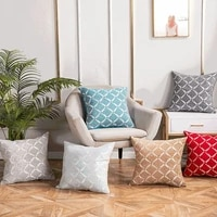 1pcs geometric polyester jacquard throw pillow cushion cover home decoration sofa office bed decor decorative pillowcase 40789