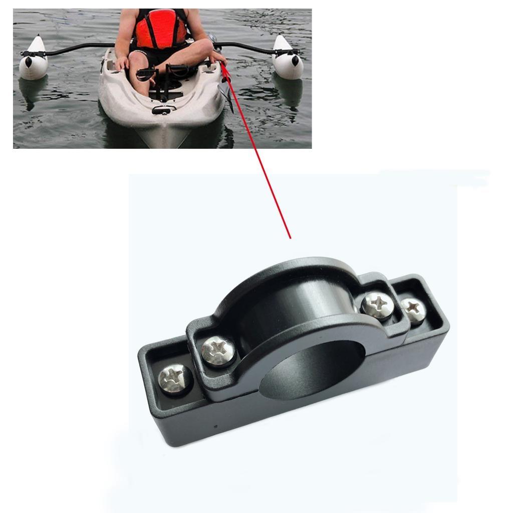 Nylon Kayak estabilizador de canoa soporte de montaje/soporte de Motor Pole Clip accesorios de repuesto