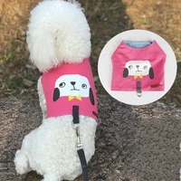 dog leash chest vest dog harness traction rope adjustable pet collar leisure cat leashes breathable mesh puppy accessories cute