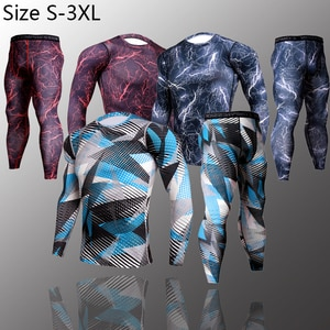 Men's running sets Gym Tight Sport Clothing Basketball Training Tracksuit Fitness Jogging Sports Wear Compression Sports Clothes