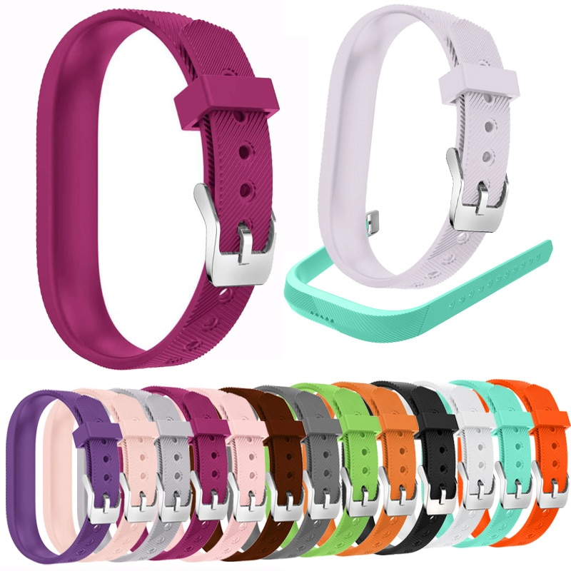 Silicone metal buckle wrists Strap Bracelet For Fitbit Flex 2 fashion Watch Sport Smart Band Replace