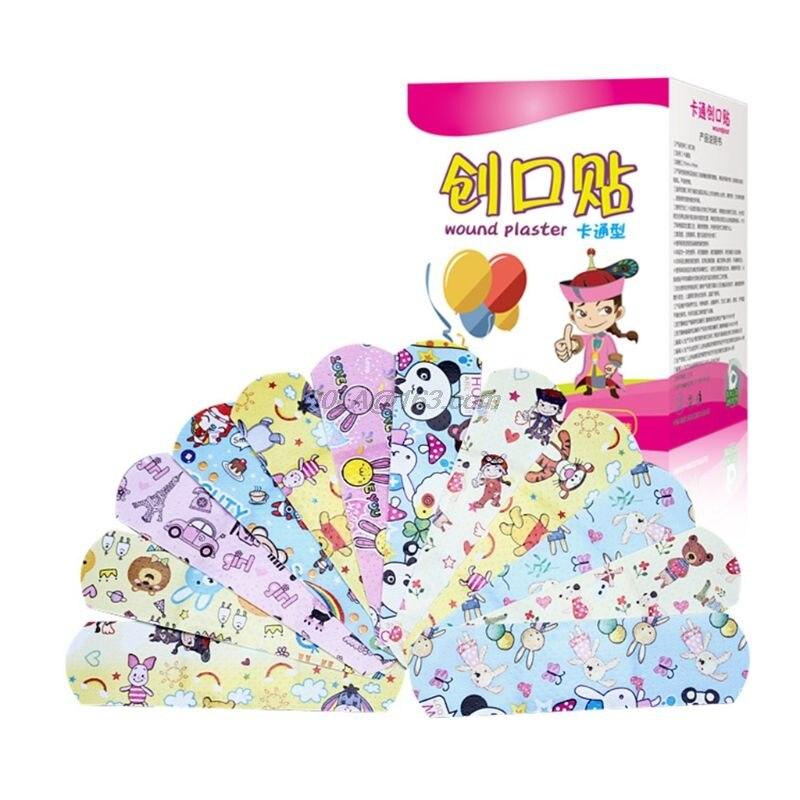 Venda de dibujos animados unids/caja 120, Mini venda transpirable para niños, vendaje resistente al agua, vendaje médico, parche hemostático