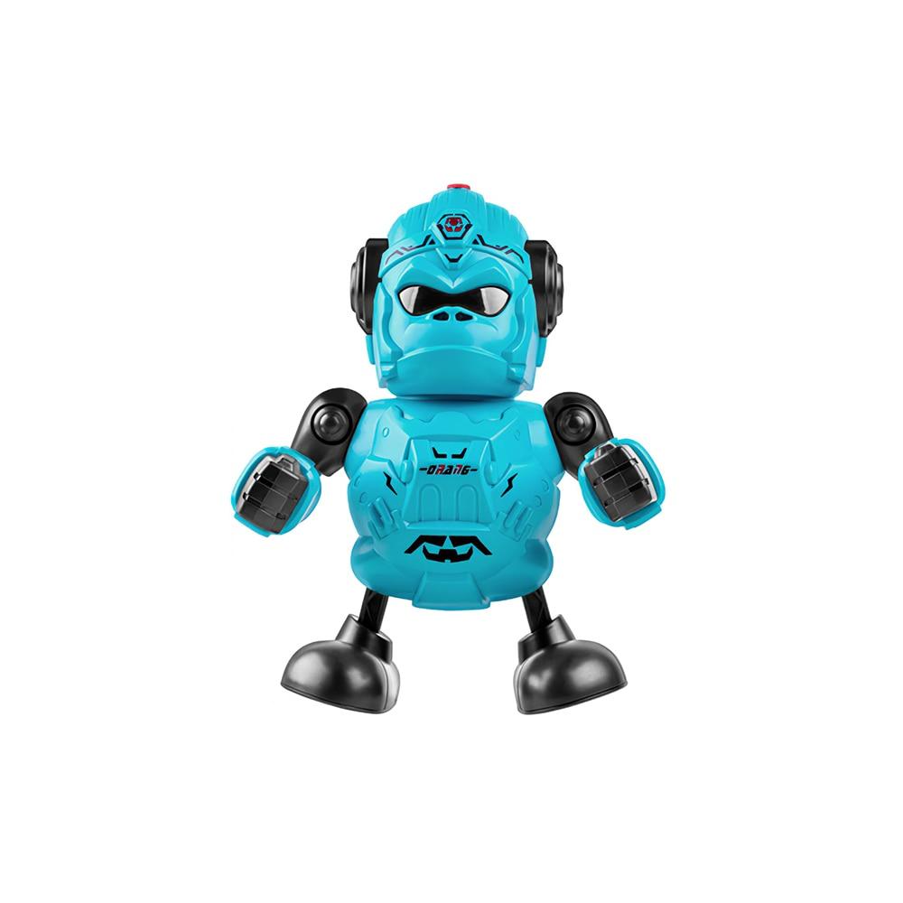 Children Dancing Spray King Kong Robot Swing Arm Simulated Walking Creative Rotating Music Luminous Dazzling Doll Electric Toy