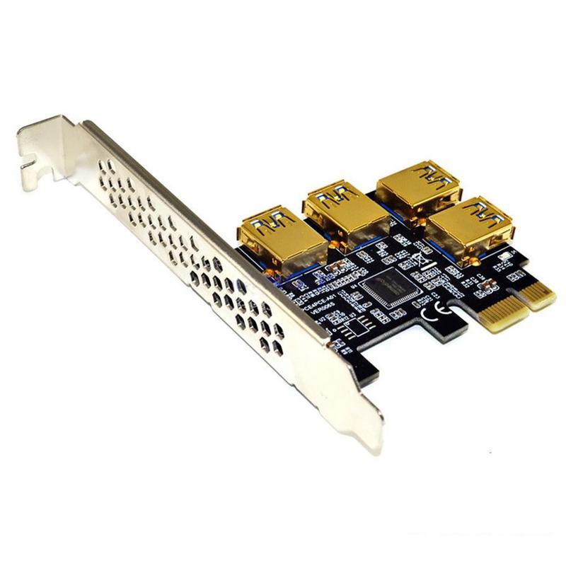 لوحة محول PCIe Riser ، 4 منافذ ، PCI-E 1x إلى 4 USB 3.0 ، PCI-E ، موسع GPU ، أرنب ، Ethereum ETH/Monero XMR/Zcash ZEC 16X
