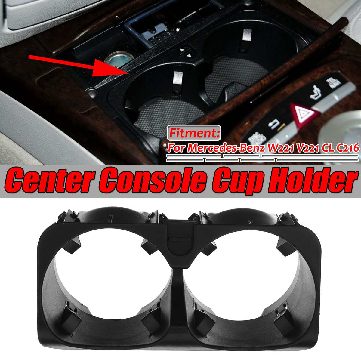 Nuevo soporte de copa para consola central de coche W221 soporte para bebida cubierta exterior para Mercedes ForBenz s-class W221 V221 CL C216 A2218130014