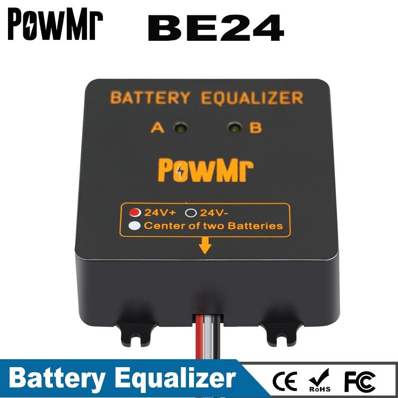 PowMr New Battery Equalizer For Two Pieces 12V Gel Flood AGM Lead Acid Batteries Battery Balancer