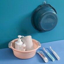 1 pièces ronde en plastique lavabo plat baignoire avec poignées antidérapantes vêtements lavabo Portable plat baignoire ménage nettoyage outils Foot